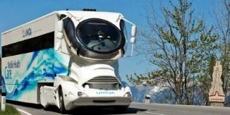The caravan is the ultimate in lavish modern design
