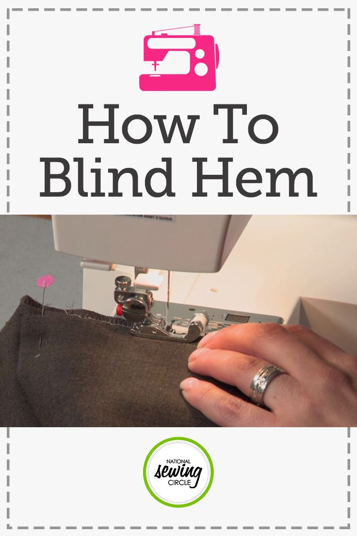 Aurora Sisneros demonstrates great tips for tackling your blind hems. Learn several techniques and tricks to assist you with difficult points in sewing your blind hem. Also, find out how to use a sewing machine rather than hand stitching your blind hem.