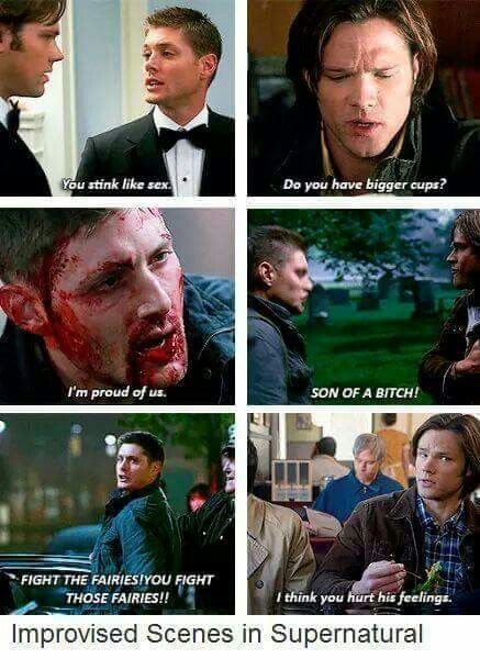 """IM PROUD OF US"" WAS IMPROVISE?? I JUST OKAY IDK WHY BUT THIS GIVES ME MORE FEELS <<< ugh #spn"