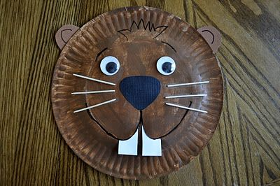 Materials You Will Need:  Paper Plate  Brown Acrylic Paint  2 Large Wiggly Eyes  Black Marker  Ears, Nose and Teeth pieces (pattern found HERE)  Craft Knife (Used by Parent, obviously!)  6 Toothpicks