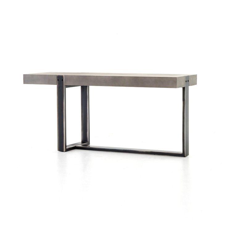 Mercury Concrete Iron Console Table Iron Console Iron Console Table Console Table