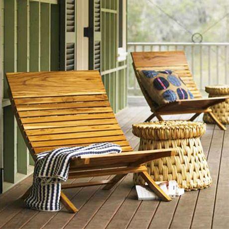 Spanish Teak Chair #teak #outdoor #patio dotandbo.com