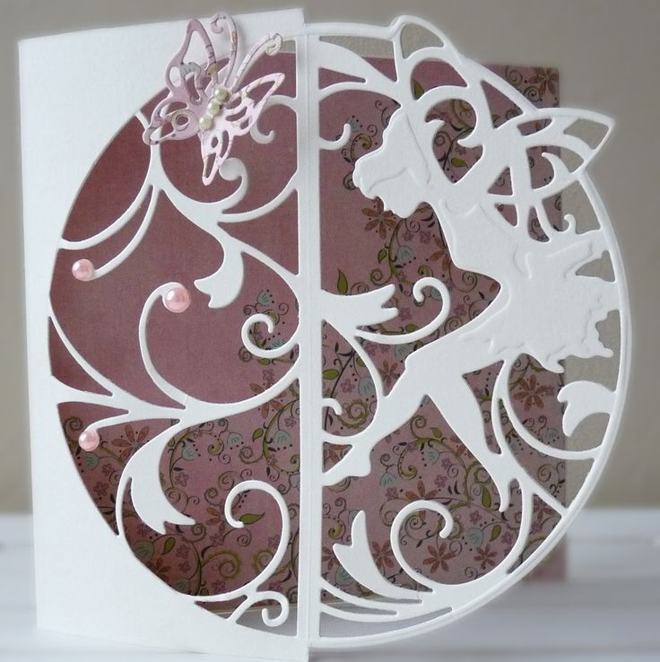DipsDesigns: Clean & Simple Fairy Silhouette Card:
