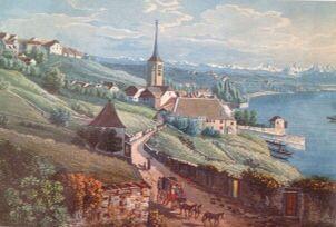 Saint Blaise, vers 1830, Suisse