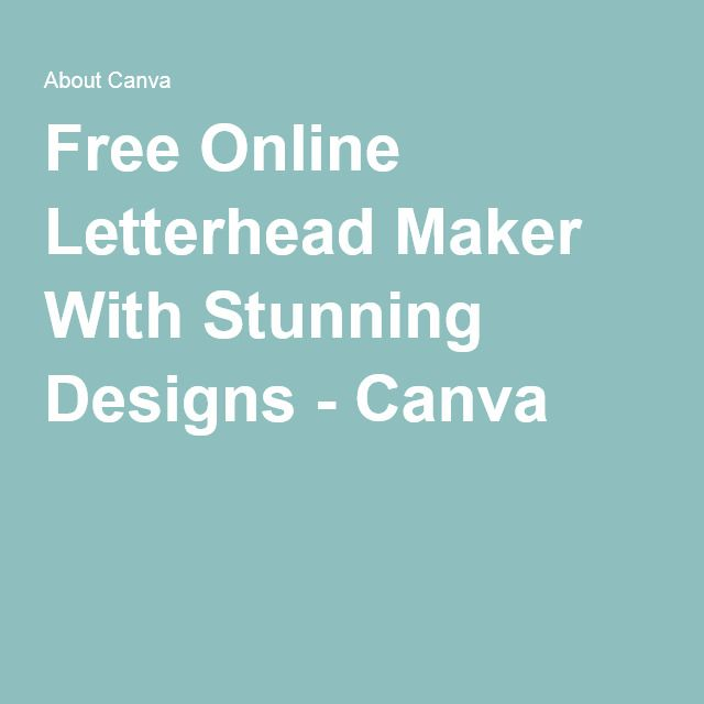 Free Online Letterhead Maker With Stunning Designs - Canva