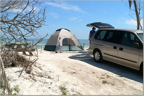 Oceanfront camping at Long Key State Park in the Florida Keys. So beautiful!