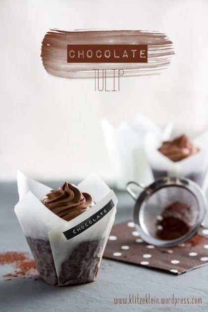 Chocolate Tulip mit Schokoladen - Crème fraîche Buttercreme 1