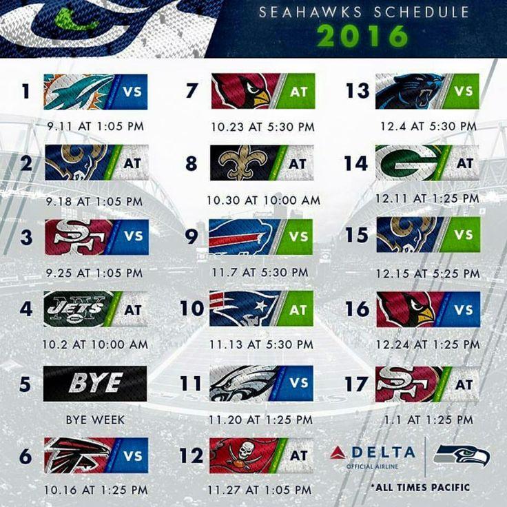 Seattle Seahawks Schedule: 1000+ Ideas About Seahawks Schedule On Pinterest