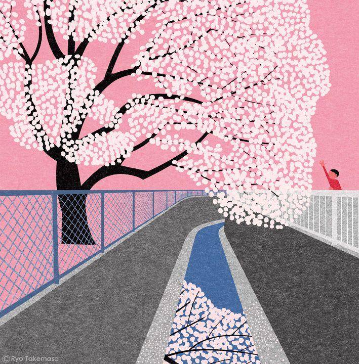 祥伝社の小説誌『小説NON』2015年4月号の表紙イラストレーションを担当しました。 Cover illustration for NON magazine, April 2015 issue.