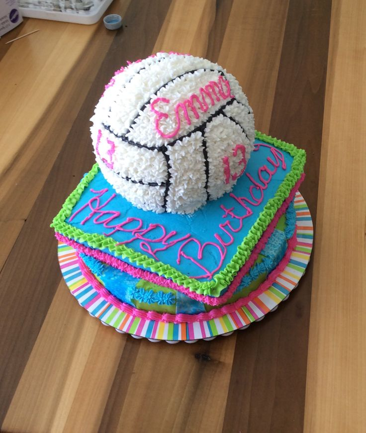 volleyball cake for my girl's 13th.  turned out pretty good, if I do say so.