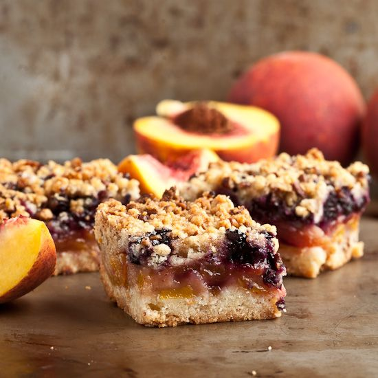 Peach 'n Blueberry Crumb Bars - Awesome buttery crust and crunchy topping.  The filling is scrumptious.