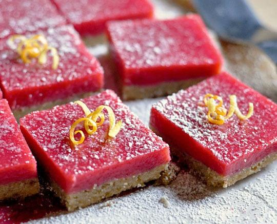 thanksgiving desserts: cranberry bars
