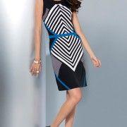 Mitered Stripe Sheath Dress $13 (was $40)