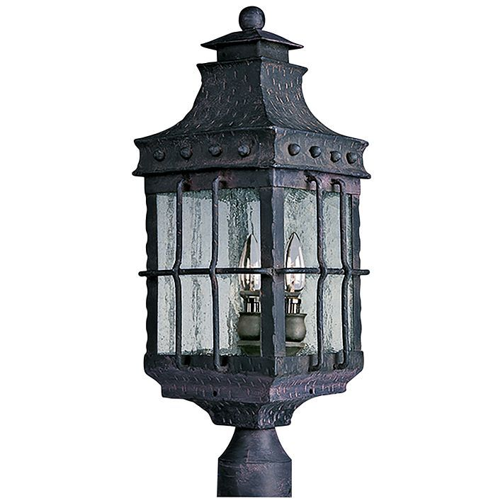 Old World 22 1 2 High Outdoor Post Mount Light 37694 Lamps Plus Outdoor Post Lights Post Lights Post Lighting