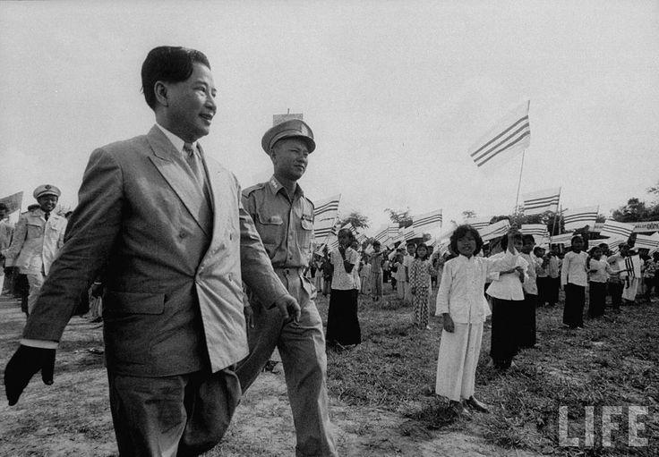 1956 President Ngo Dinh Diem (L), visiting refugee settlements. | by manhhai