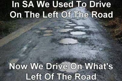 Pothole joke South Africa