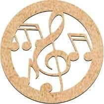 Mandala Musical Abstrata Grande - Mdf