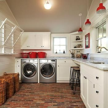 Farmhouse Laundry Rooms, Country, Laundry Room, John Hummel
