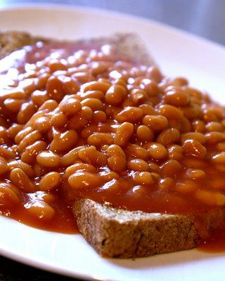 Baked Beans on toast - childhood favourite - Heinz of course...