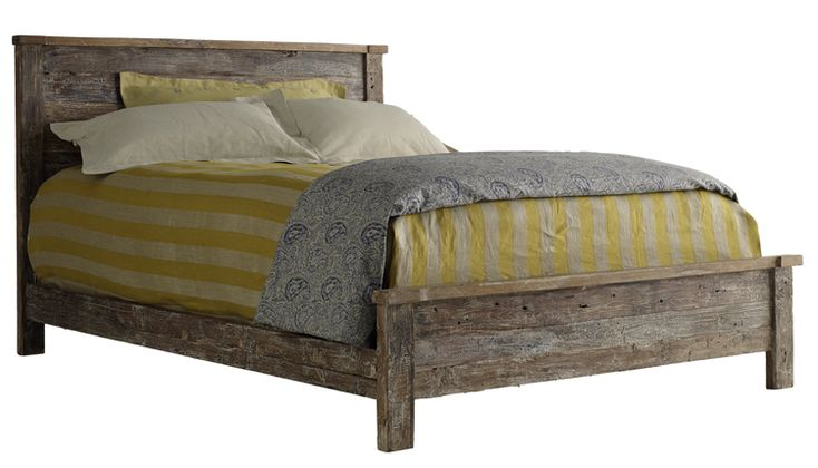 Hampton Reclaimed Wood Teak Bed