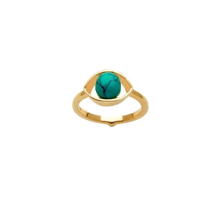 Iris Ring / Turquoise from D A M S E L F L Y