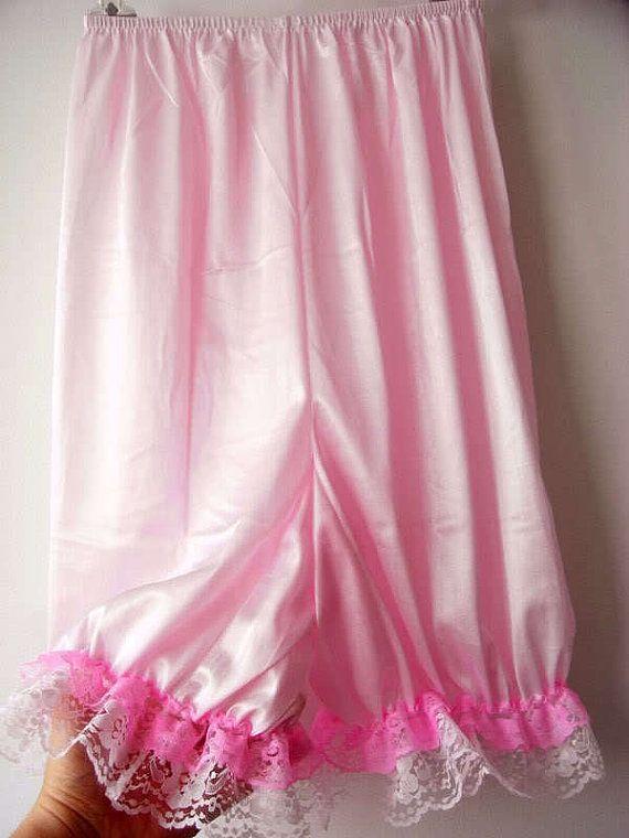 Pink Pettipants Half Slip Silk Nylon Petti Pants By