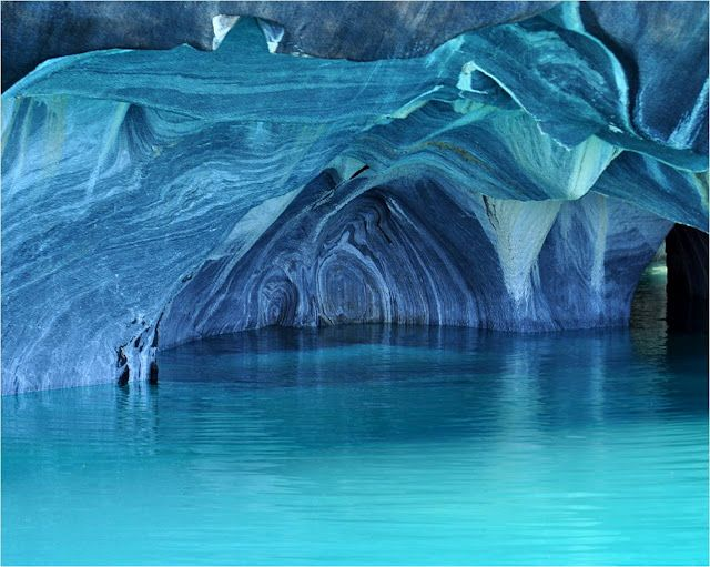 The Marble Cathedral of General Carrera Lake, Chile