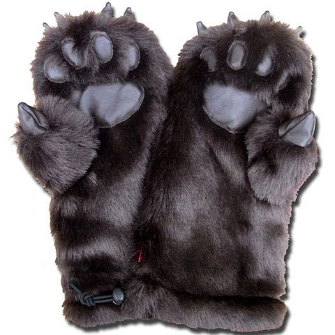 "Grizzly Mitten Gloves... but all i can think of is : i have the "" right to bear arms"" lol"