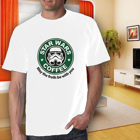 star wars coffee adult white tshirt men women S2XL by goodwear, $14.99