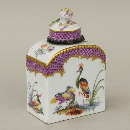 Meissen porcelain 1700s tea canister/jar.  Gorgeous!