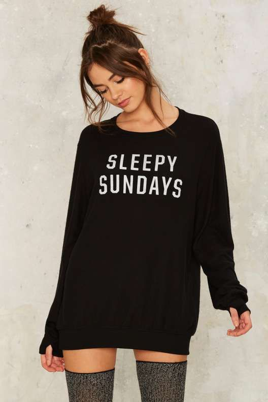 Social Decay Sleepy Sundays Graphic Sweater - Sweaters