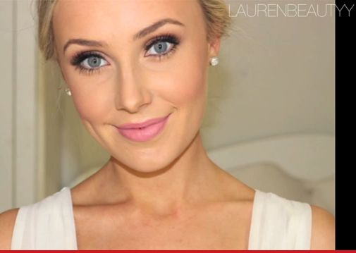 Natural wedding makeup - Blonde Hair - Blue Eyes