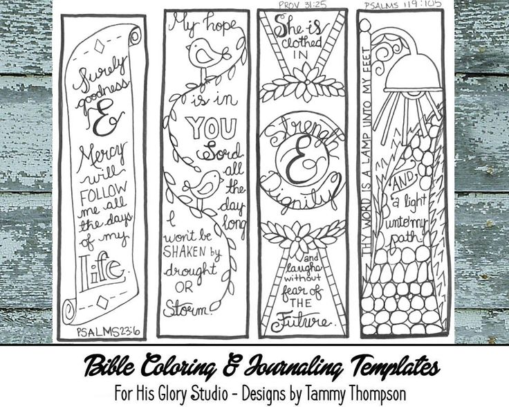 Bible Journailing Coloring Pages
