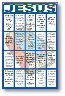 Jesus Bible Verses Bingo Game for Large Groups