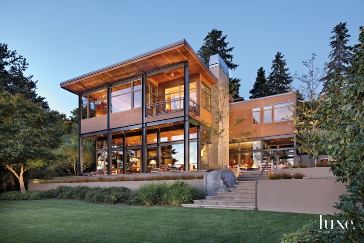 A modern mercer island home with contemporary interiors for Pacific northwest homes