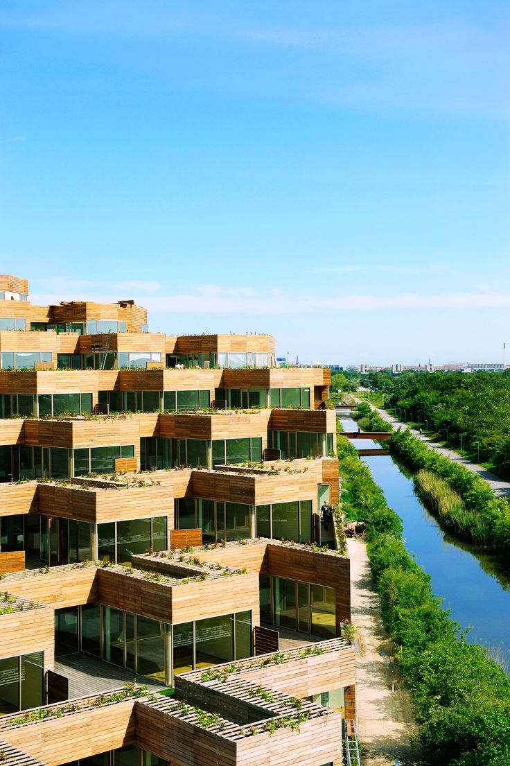 Architecture. Mountain Dwellings Residential Complex in Copenhagen. Designers: Bjarke Ingels and Julien De Smedt.