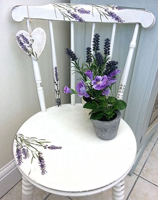 Chalk Painted Chair - The Graphic Fairy - Lavender & Heart Chair - Reader Featured Project: