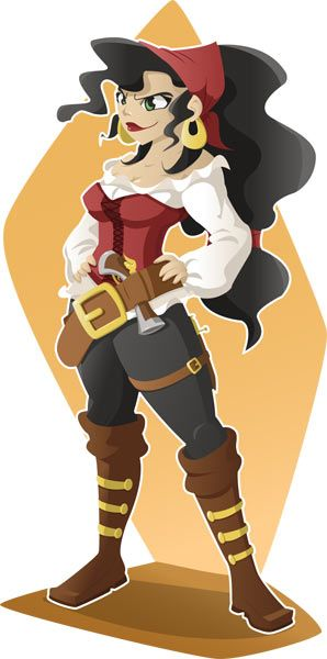 "3ème version de cette pirate ""Bonny McWorst"", illustrator par Grib"
