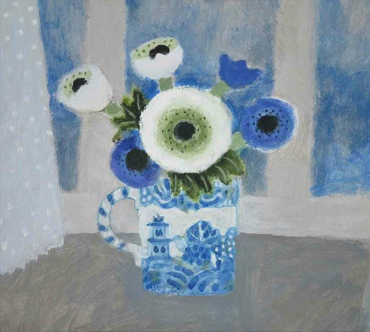 Flowers on the Windowsill by Jill Leman RWS