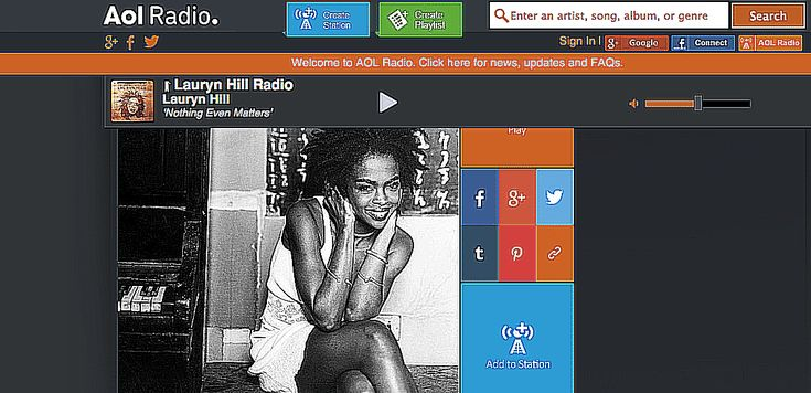 The 25 Best Free Music Streaming Sites: AOL Radio