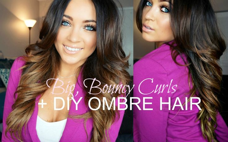 Big, Bouncy Curls Tutorial + DIY Ombre Hair YouTube