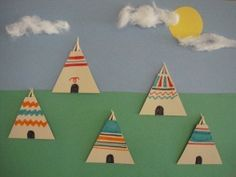 This Tepee Village Craft is an easy and fun way to learn about Native American Culture! This collage is made with simple materials found around the house! Perfect for reinforcing the triangle shape, too!