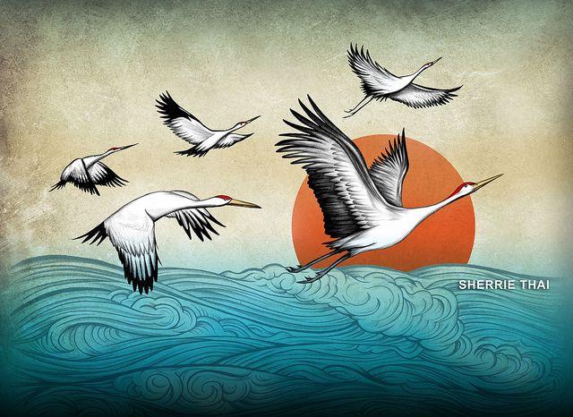 "Sherrie Thai. ""Flight of the Cranes"""