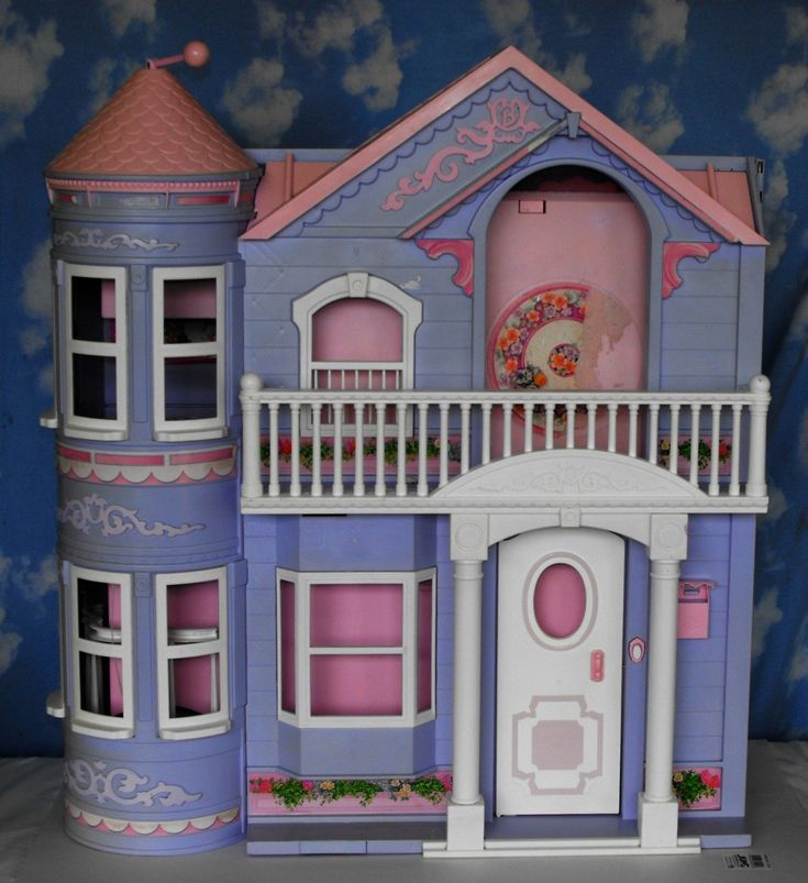 Barbie Dream House Dollhouse 2000~Purple ~Working Elevator ...
