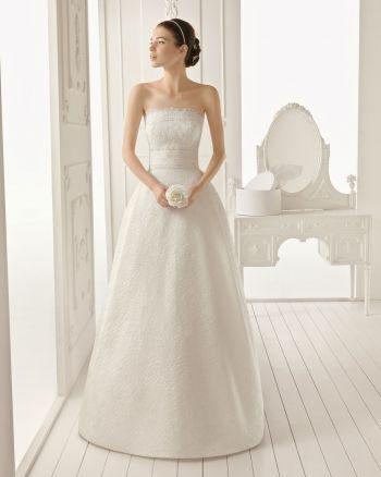 Ампир простое ретро длинное свадебное платье с открытой спиной кружево( WDAA0001706-186083)