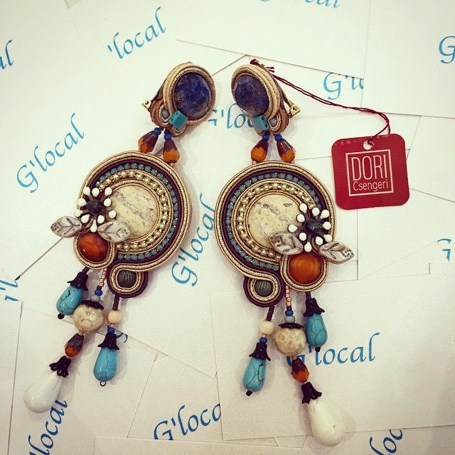 Desert chic earrings on dislpalay at g'local #doricsengeri #earrings #chic #glocal