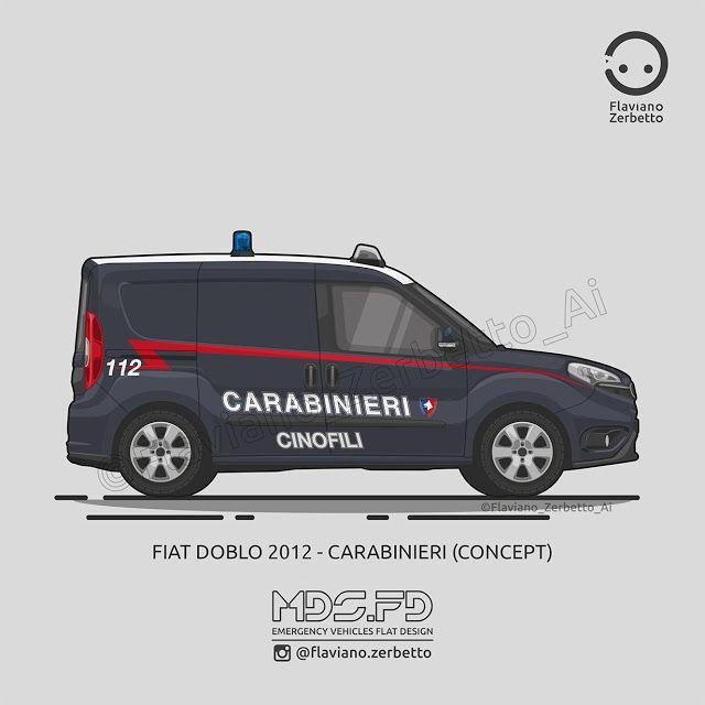KombiT1: Fiat Doblò 2012 - Carabinieri