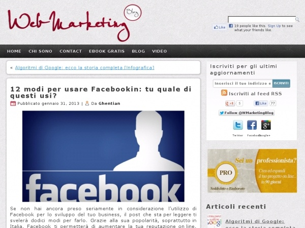 Web Marketing Blog