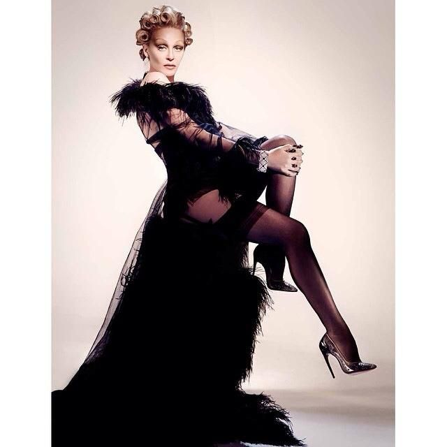 KYLIE MINOGUE AS MARLENE DIETRICH ON SORBET PHOTOSHOOT