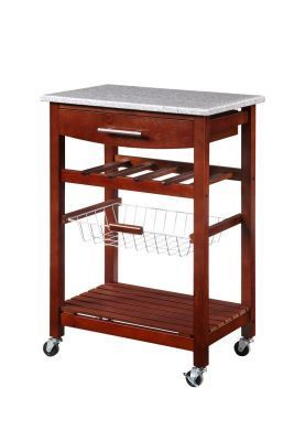 LALA 4 DRAWER WIRE STEEL MOBILE STORAGE CART WITH TOP SHELF IN BOX